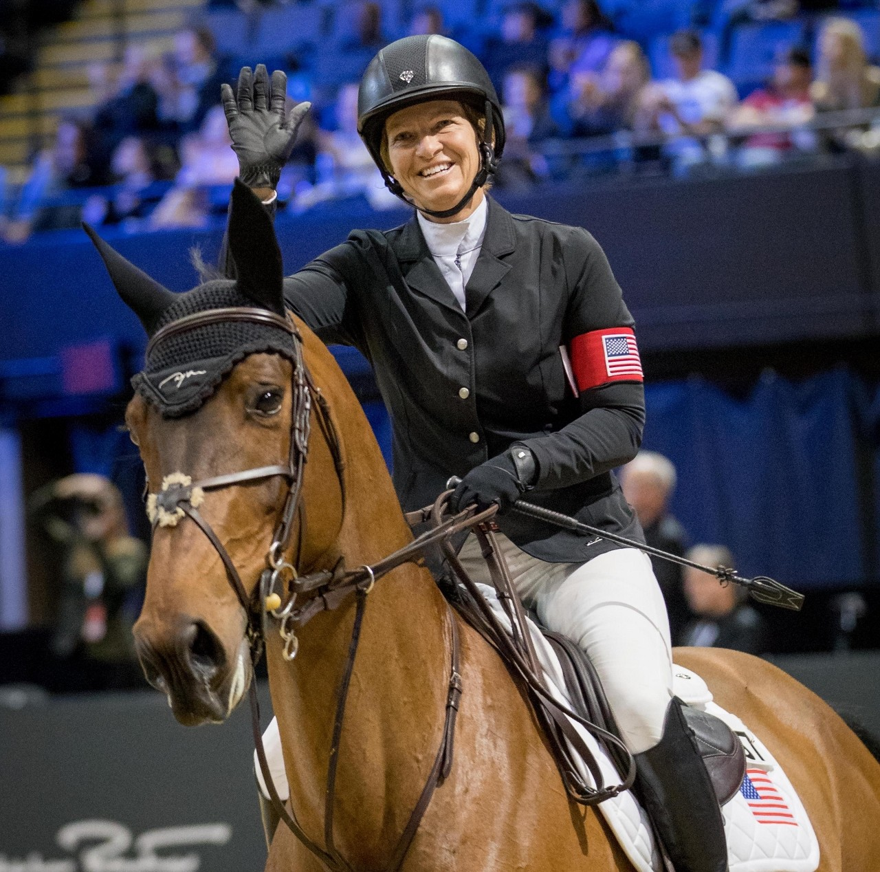 Two-time Olympic team gold medalist Beezie Madden road for Riders USA. Photo by Jessica Rodrigues for EEM